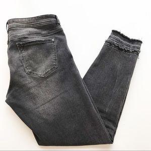 Zara Basic Z1975 Black Skinny Jeans Released Hem 8